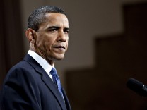 US-Präsident Barack Obama nach
