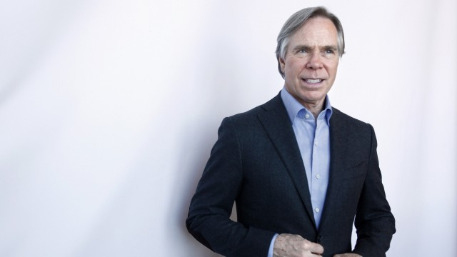 Designer Tommy Hilfiger poses for a portrait after giving a review a review of his Fall/Winter 2012 collection show