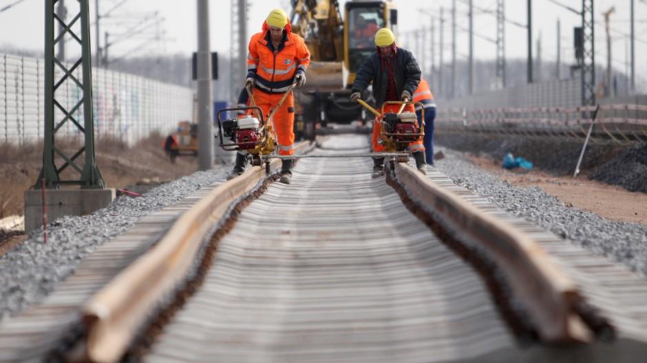 Gleisbauarbeiten im Raum Leipzig-Halle