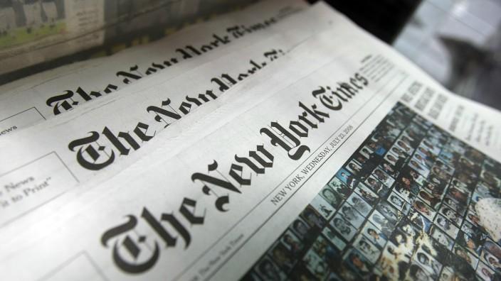 Zeitungsstand in New York.