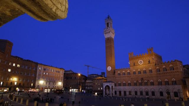 Del Campo square is seen in Siena