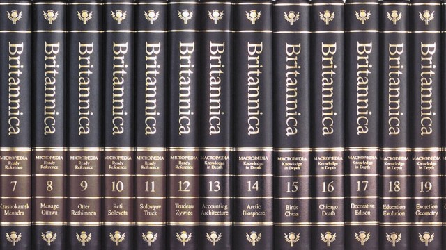 Encyclopædia Britannica Encyclopædia Britannica stellt Druck ein