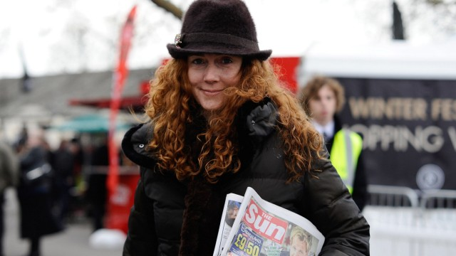FILE - Rebekah and Charlie Brooks Arrested Over Phone Hacking
