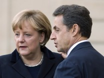 Sarkozy and Merkel euro crisis meeting