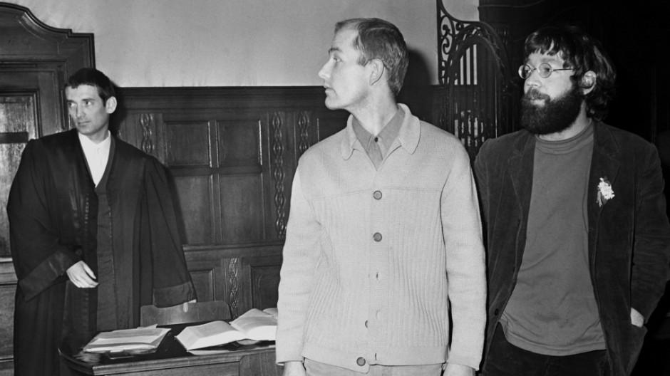 Fritz Teufel und Peter Urbach vor Gericht 1968