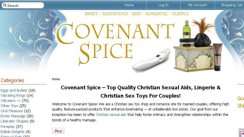 Webseite covenantspice.com bietet Sexspielzeug für Christen