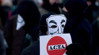 Anti-Acta demonstration in Cluj, Romania
