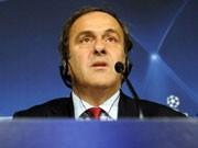 Platini, Uefa, AFP