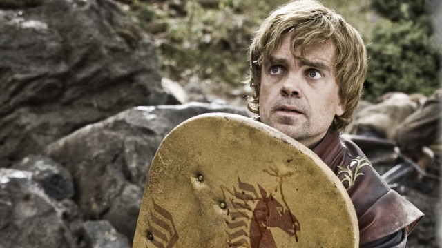 Actor Peter Dinklage is shown in a scene from the HBO series 'Game of Thrones' in this undated publicity photograph