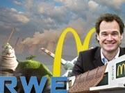 RWE, Dopheide, McDonald's, Foto: Getty, dpa, AP / Grafik: sde, Büch