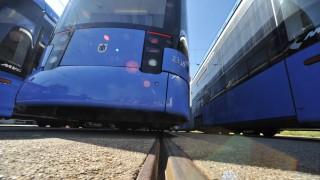 'Variotram' Straßenbahnen im Depot der MVG, 2011