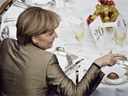 Merkel in Kopenhagen, dpa