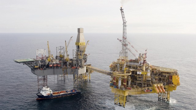 Total's Elgin platform in the North Sea is seen in this undated photograph received in London