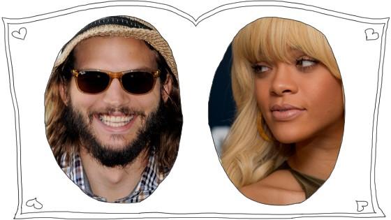 promiblog Gerüchte um Ashton Kutcher und Rihanna