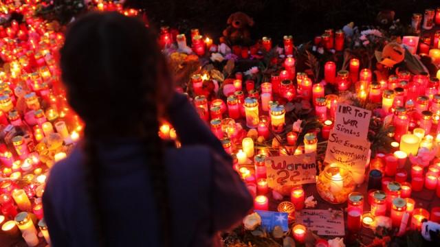 Gedenken an ermordete Elfjaehrige in Emden
