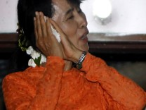 Myanmar's Suu Kyi in rural Kawhmu for her first election Sunday