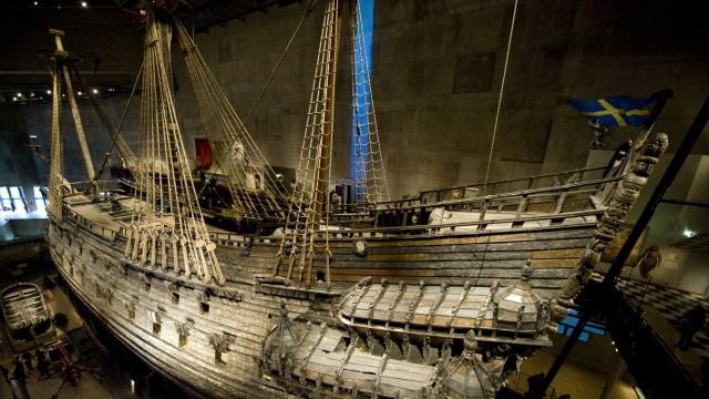 Das Kriegsschiff Wasa oder Vasa im Museum in Stockholm, Schweden