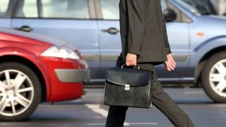 Berufspendler auf dem Weg zur Arbeit