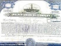 Aktie Börse Palmer Union Oil Company Coca Cola
