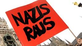 Demonstration gegen Neonazis in München, dpa
