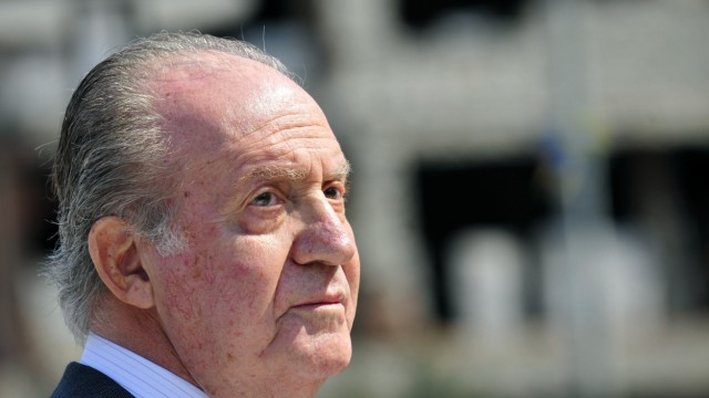 Spanish King Juan Carlos attends the official opening ceremony of the new Spanish square in Mostar