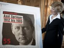 Vorstellung einer Sonderbriefmarke zum 100. Geburtstag von Axel Springer