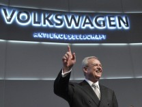 Volkswagen AG's Chief executive officer Winterkorn poses during the annual shareholder meeting of Volkswagen AG in Hamburg