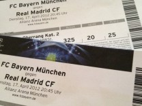 FC Bayern Real madrid Ticket