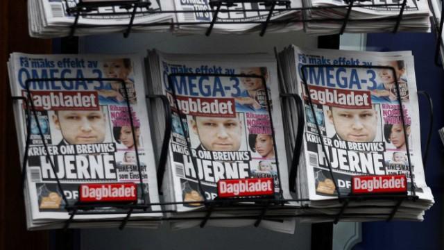 Die Medien in Norwegen berichten umfangreich über den Prozess gegen Anders Behring Breivik, die Titelseiten an Zeitungsständen in Oslo sind voll von dem Thema.