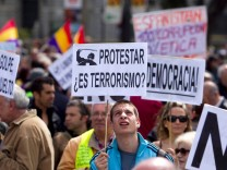 Spanien, Demonstranten