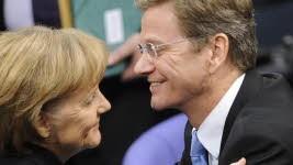 Westerwelle, Merkel, ddp