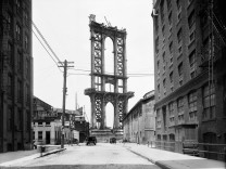 New Yorker Stadtarchiv Manhattan Bridge New York