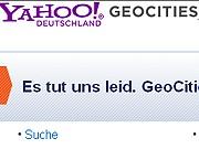 Netz-Depeschen, Yahoo, Geocities