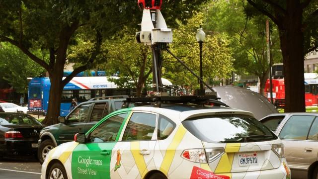 Ein Kamera-Auto ist im Juni 2011 in Washington, D.C., für Google Street View unterwegs.