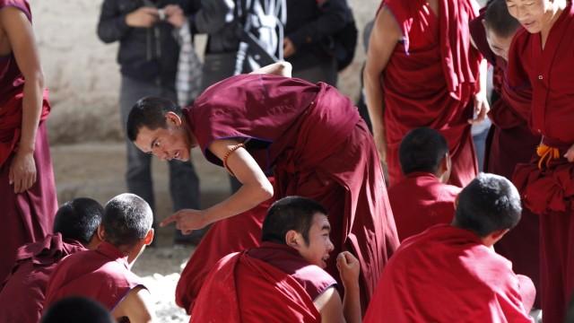 Tibet Lhasa Sera-Kloster Mönche