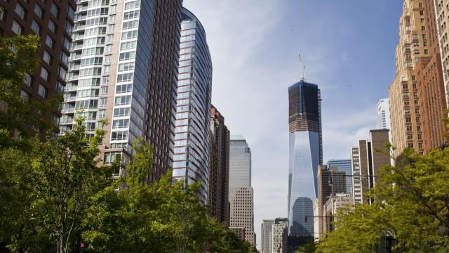 New York World Trade Center Wieder Hochstes Gebaude Panorama
