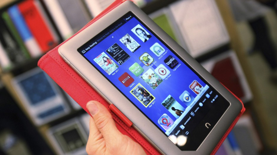 File photo of the new Nook Tablet during a demonstration at the Union Square Barnes & Noble in New York