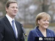Westerwelle; Merkel; Reuters