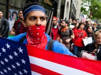 May Day protests in New York
