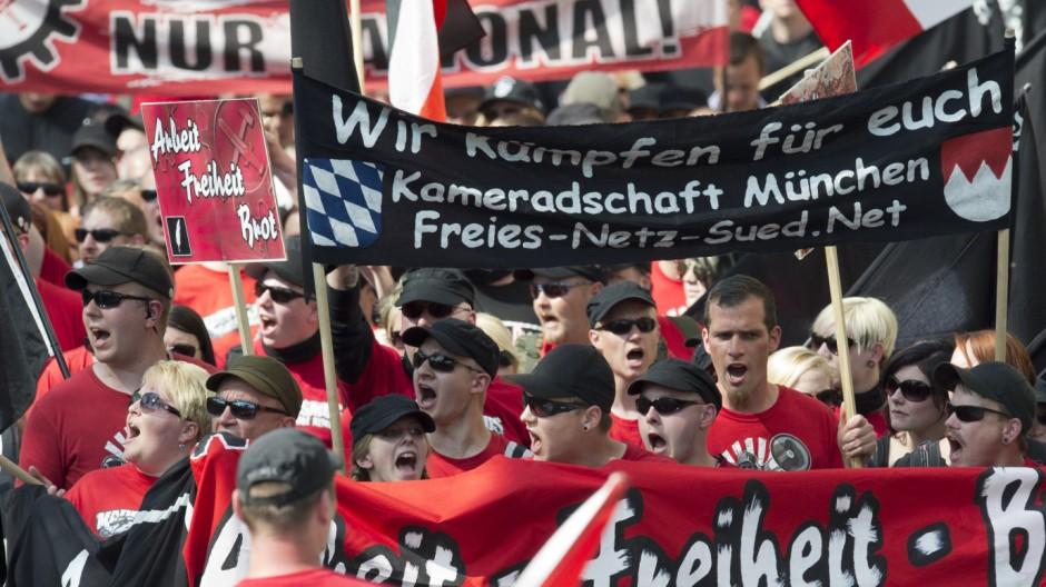 Nazi-Aufmarsch in Hof