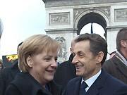Merkel, Sarkozy, dpa
