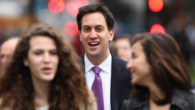 Labour Party Leader Ed Miliband Casts His Vote In The London Mayoral Elections