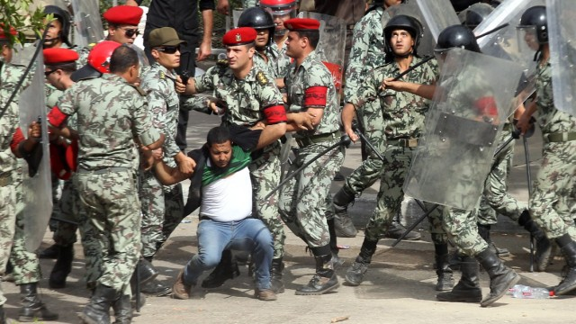 Protests at the Defense Ministry in Cairo