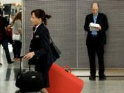 Der Schriftsteller Alain de Botton verbrachte eine Woche auf dem Airport London-Heathrow, AFP