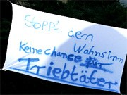 Protest-Plakat, ddp