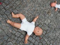 Flashmob der Berliner Hebammen