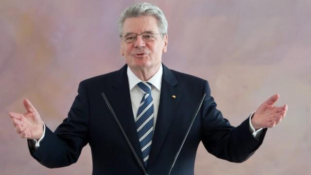 Bundespräsident Joachim Gauck im Schloss Bellevue