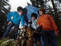 Waldserie Waldkindergartenkinder