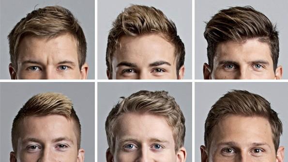 Haare links kurz rechts lang
