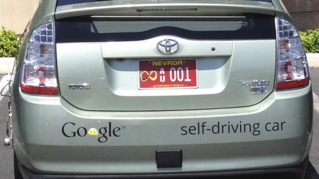 Handout photo of the Google self-driven car in Las Vegas